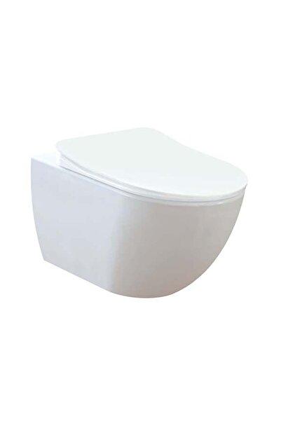 Creavit Fe322 Free Rim-off Asma Klozet + Duck Duroplast Yavaş Kapanan Beyaz Klozet Kapağı