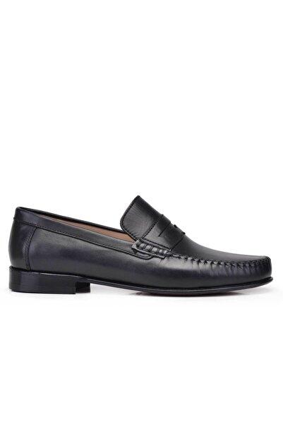 Nevzat Onay Hakiki Deri Siyah Klasik Loafer Kösele Erkek Ayakkabı -10030-