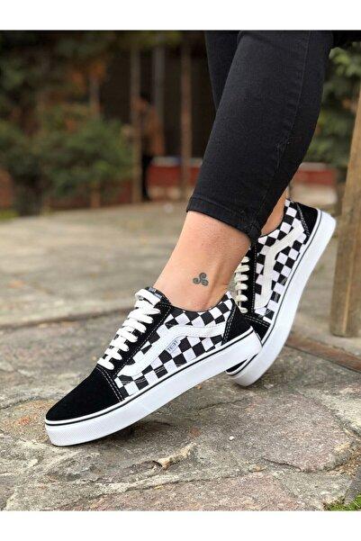 TEET Tt026 Siyah Damalı Sneaker Günlük Ayakkabı