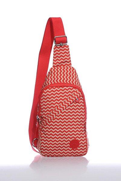 SMART BAGS Smb1239-0134 Kırmızı/bej Kadın Body Bag