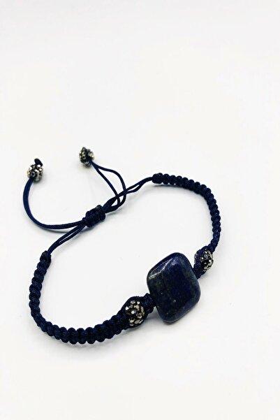Dr. Stone Dr Stone Doğaltaş Lapis Lazuli Taşı Altın Kaplama El Yapımı Kadın Bileklik Tkrb36