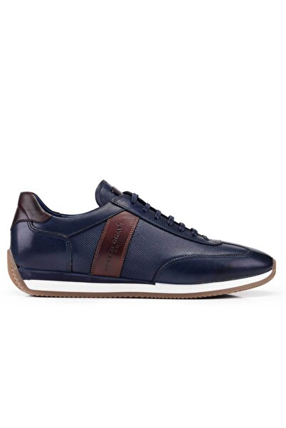 Nevzat Onay Hakiki Deri Lacivert Sneaker Erkek Ayakkabı -11482-