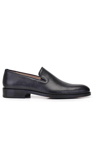 Nevzat Onay Hakiki Deri Siyah Klasik Loafer Kösele Erkek Ayakkabı -11784-