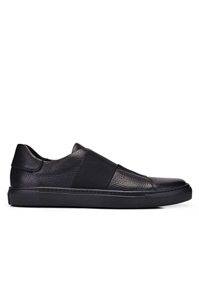 Nevzat Onay Hakiki Deri Siyah Sneaker Erkek Ayakkabı -11384-