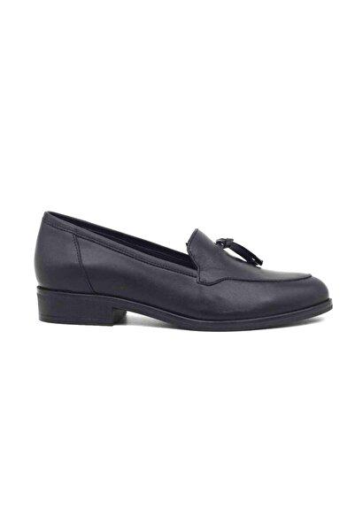 Venüs Hakiki Deri Siyah Kadın Günlük Ayakkabı 145416y