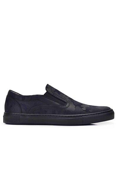 Nevzat Onay Hakiki Deri Lacivert Sneaker Erkek Ayakkabı -11540-