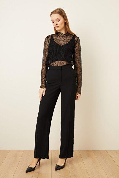 adL Kadın Siyah Yüksek Bel Bol Pantolon 15339352000
