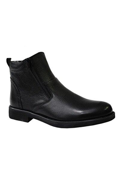 KALE 0435 Siyah Hakiki Deri Erkek Ayakkabı Bot