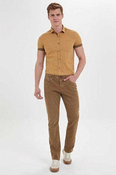Loft Erkek Regular Fit Koyu Camel Pantolon Lf2002244