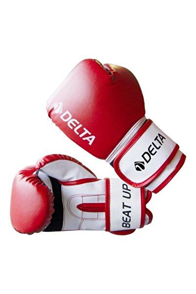 Delta Beat Up Dura-strong Çantalı Kırmızı-beyaz 10 Oz Boks Eldiveni