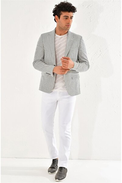 Efor C 566 Slim Fit Haki-beyaz Spor Ceket