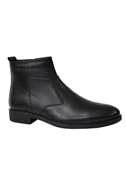 KALE 0409 Siyah Hakiki Deri Erkek Ayakkabı Bot