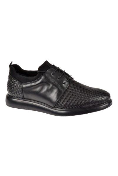 Friendly Hakiki Deri Günlük Erkek Ayakkabı Ts-503 Siyah