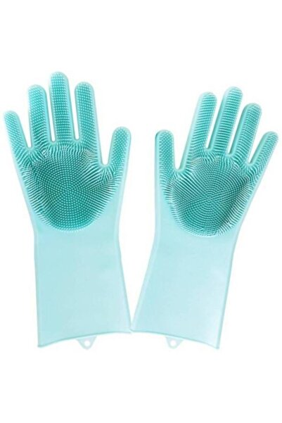 EFSANEAVM Sihirli Isıya Dayanıklı Silikon Çok Amaçlı Bulaşık Eldiven Fırçası Magic Gloves