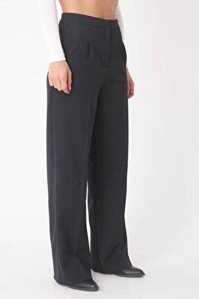 Kadın Siyah Cep Detaylı Bol Pantolon Pn8058 - E8 ADX-0000023058