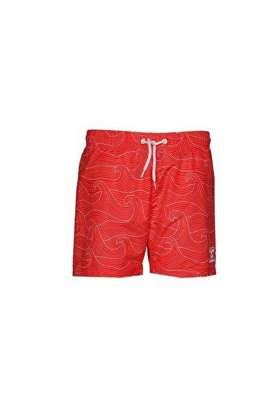 HUMMEL Erkek Kırmızı Weavy Swım Yüzme Şortu