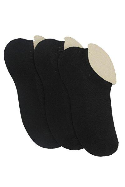 TENA MODA Kadın Siyah 3'lü Sneakers Kuşaklı Çorap