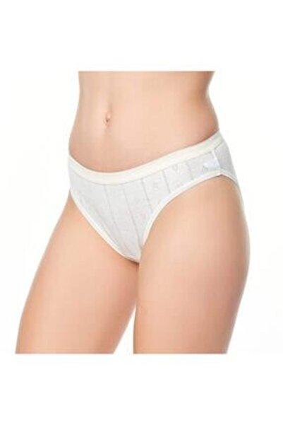 Tutku Standart Beden Tek Ebat Ekru Bayan Jakarlı Bikini 3 Lü Paket.