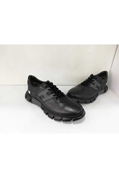 Mammamia Hakiki Deri Bej Günlük Sneaker 7410-lx