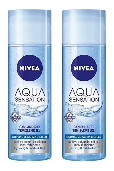 Nivea Aqua Sensation Normal/karma Ciltler Için Canlandırıcı Temizleme Jeli 200 ml X 2 Adet
