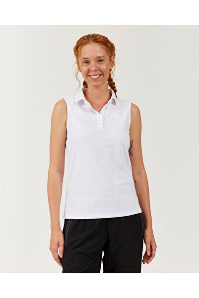 SKECHERS Polo's W Pique Sleevless Basic T-shirt Kadın Beyaz Tshirt S201146-100