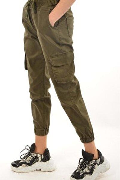 Kadın Kargo Cep Pantolon - Haki