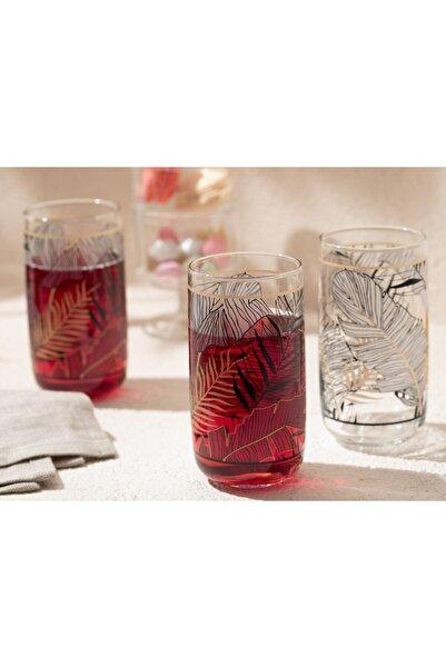 English Home Maylin Cam 3'lü Meşrubat Bardağı 365 Ml Siyah