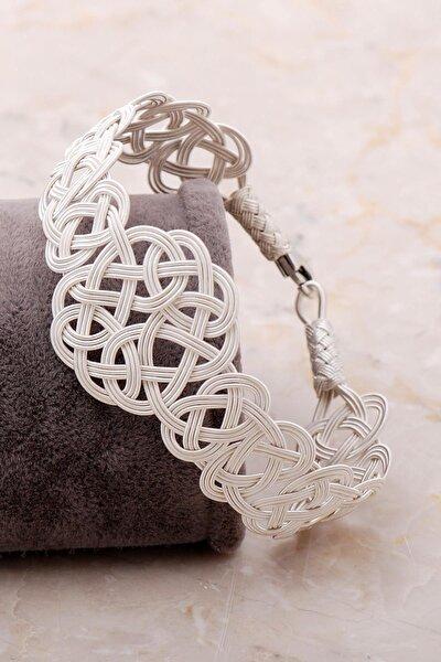 Sümer Telkari Aşk Düğümü Kazaziye Işlemeli Gümüş Bileklik 3406