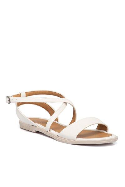 Tergan Beyaz Vegan Kadın Sandalet 210139q0y