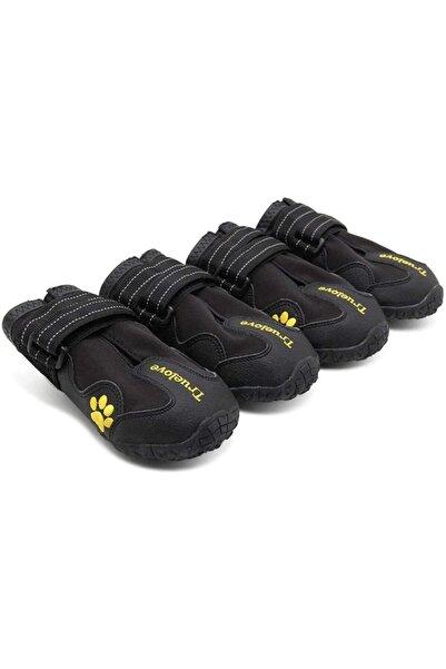 True Love Jacks Dog Cafe Truelove Siyah Tüm Mevsimlere Uygun 4'lü Köpek Ayakkabısı Beden 3
