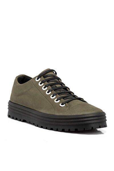 Tergan Haki Nubuk Deri Erkek Ayakkabı 55010g98
