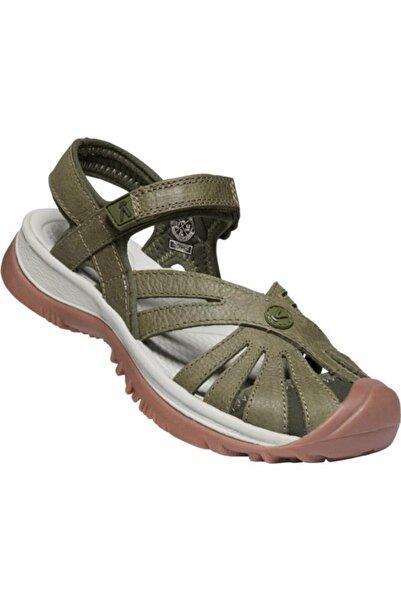 Keen Rose Leather Kadın Sandalet Yeşil