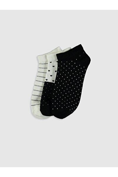 LC Waikiki Kadın Ekru  Patik Çorap