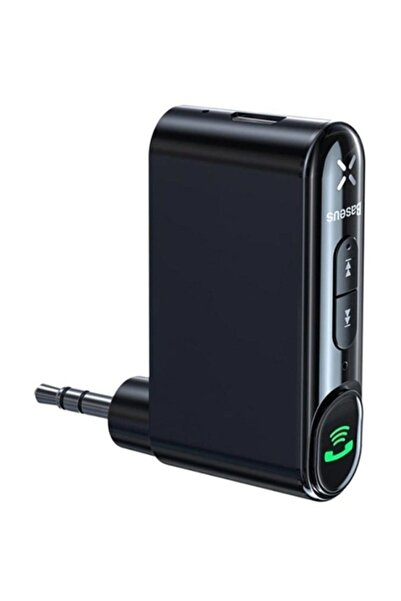 Baseus Wireless Bluetooth 5.0 3.5mm Jack Aux Araç Ses Aktarım Kiti Adeptör Siyah