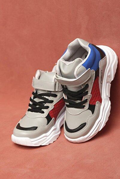 Oksit Calli Unisex Çocuk Bej Konçlu Spor Ayakkabı