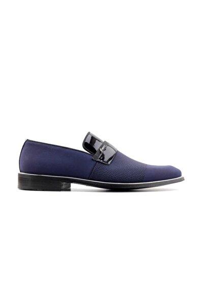 Fosco 9086 Hakiki Deri Erkek Klasik Ayakkabı-lacivert Saten