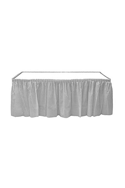 Roll-Up Gümüş Plastik Masa Eteği