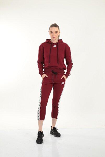 New Balance Kadın Bordo Kapüşonlu Sweatshirt Wpj005-bkr