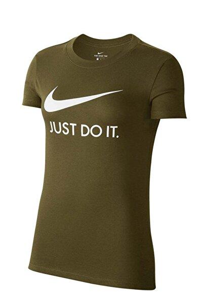 Nike W Nsw Tee Jdı Slım Kadın Tişört Cı1383-368-yeşil