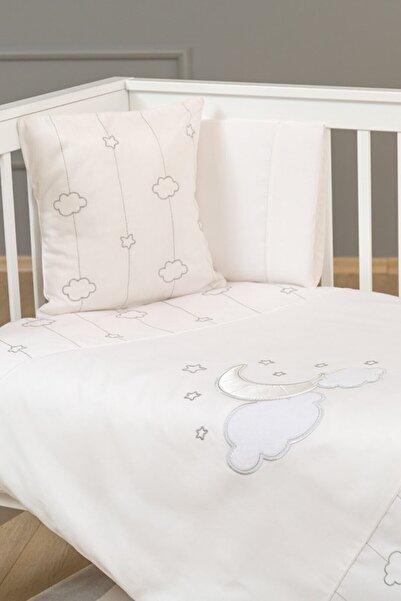 Funna Baby Funnababy Nevresim Takımı Luna Chic 4 Parça 100 Cm X 150 Cm Beyaz /