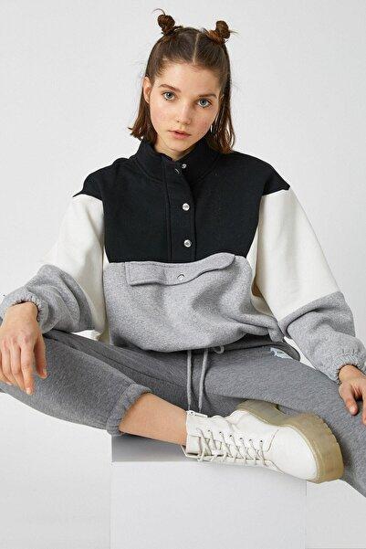 Koton Kadın Siyah Sweatshirt 1KAL68166OK