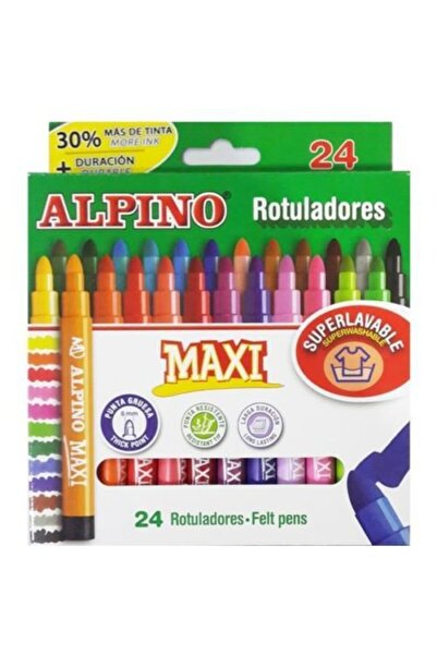 Alpıno Alpino Maxi 24 Renk Keçeli Kalem Ar-07