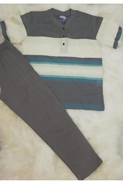 Haluk Bayram Baha 2362 Çizgili Altı Uzun Erkek Pijama Takımı