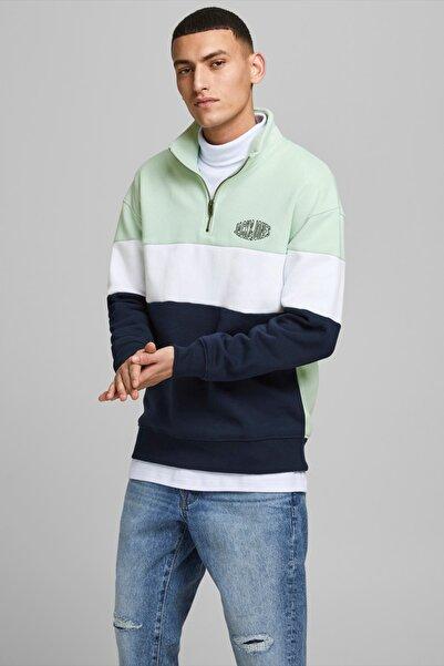 Jack & Jones Erkek Yarım Fermuarlı Sweatshirt - 12192610