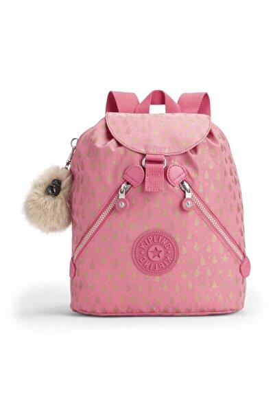 Kipling Sırt Çantası Bustling Pink Gold Drop K1699825t