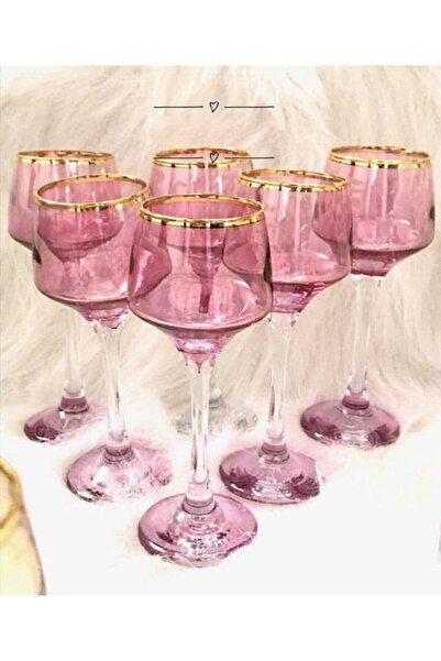 GÜRALLAR El Dekorlu   6 Kişilik Kahve Yanı Cam Su Bardağı Seti, Çeyizlik Set