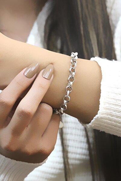 Sümer Telkari Doç Taşlı Zincir Gümüş Bileklik 3518