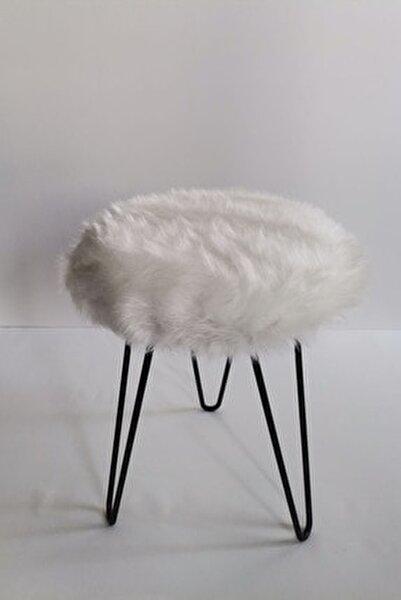Beyaz Peluş Puf