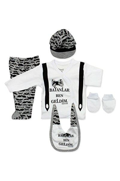 Miniworld Bayanlar Ben Geldim 5 Li Yenidoğan erkek  Bebek Hastane Çıkışı Seti K542