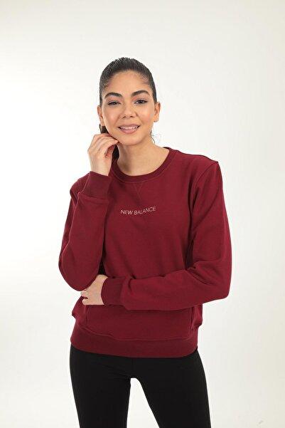 New Balance Kadın Bordo Sweatshirt Wpc029-bkr